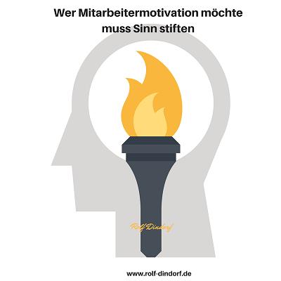 Mitarbeitermotivation Sinn Unternehmenskultur Dindorf