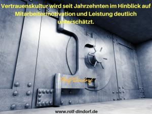 Vertrauenskultur Unternehmenskultur Dindorf